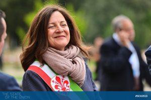 Cristina Giachi (Deputy Major of Florence) at Villa Salviati