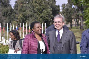 Cécile Kashetu Kyenge (Member of the European Parliament) and EUI Secretary General Vincenzo Grassi