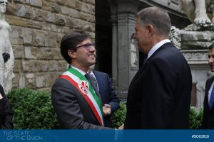Klaus Iohannis (President of Romania) and Dario Nardella (Major of Florence)