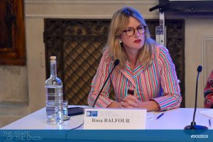 Rosa Balfour (Senior Fellow, German Marshall Fund of the United States, Brussels)
