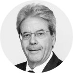 Black and white picture of Paolo Gentiloni