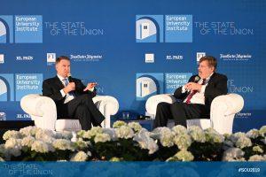 Klaus Iohannis (President of Romania) in conversation with Klaus-Dieter Frankenberger (Foreign Editor, Frankfurter Allgemeine Zeitung)