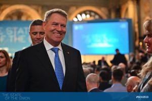 Klaus Iohannis (President of Romania) in Salone dei Cinquecento