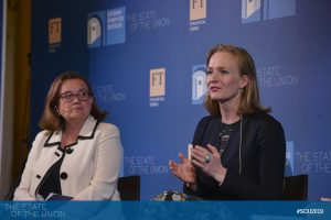 Ana Paula Zacarias (Secretary of State for European Affairs, Portugal) and Marietje Schaake (Member of the European Parliament, Committee on Foreign Affairs)