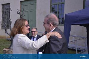 Ana Paula Zacarias (Secretary of State for European Affairs, Portugal) and the EUI Secretary General Vincenzo Grassi