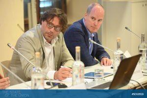 Andrea Mattozzi (Head of Economics Department, EUI) and David Farrell (Professor and Head School of Politics and International Relations, UCDublin)