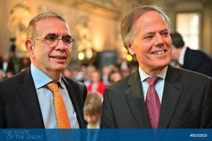 EUI Secretary General Vincenzo Grassi and Minister Enzo Moavero Milanesi