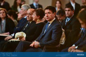 Giuseppe Conte (Prime Minister of Italy) in Salone dei Cinquecento