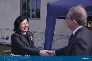 Vĕra Jourová (Commissioner for Justice, Consumers and Gender Equality, EU Commission) arrives at Villa Salviati