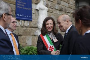Welcome Jean-Yves Le Drian (Minister of Europe and Foreign Affairs, France)