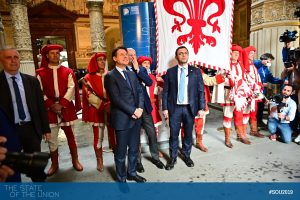 Welcoming Giuseppe Conte (Prime Minister of Italy)