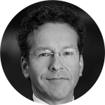 Black and white picture of Jeroen Dijsselbloem